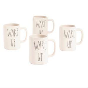 4 Rae Dunn Wake Up Mugs